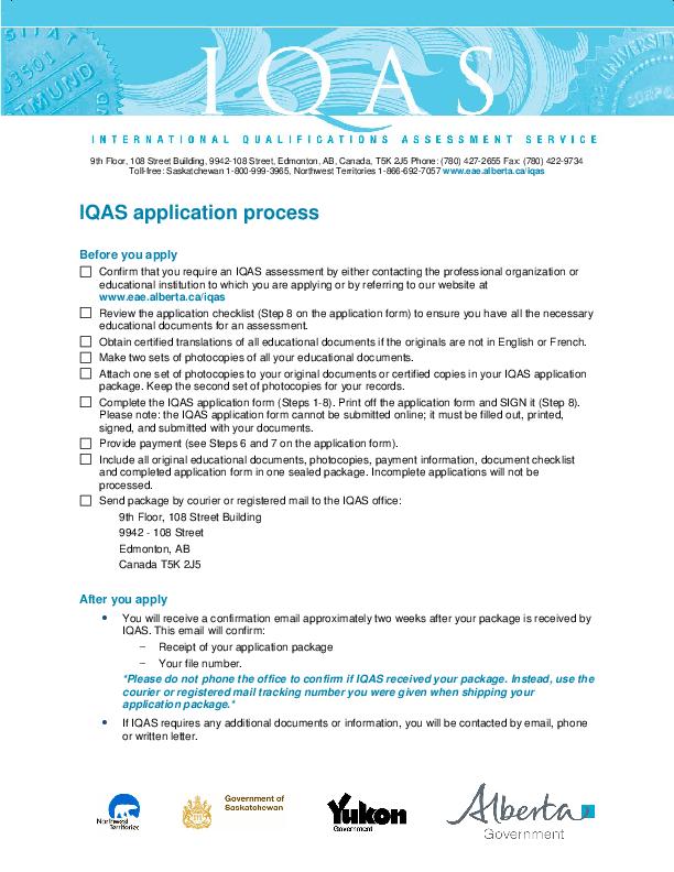 PDF) Iqas application process | Kashif Sabiri - Academia edu