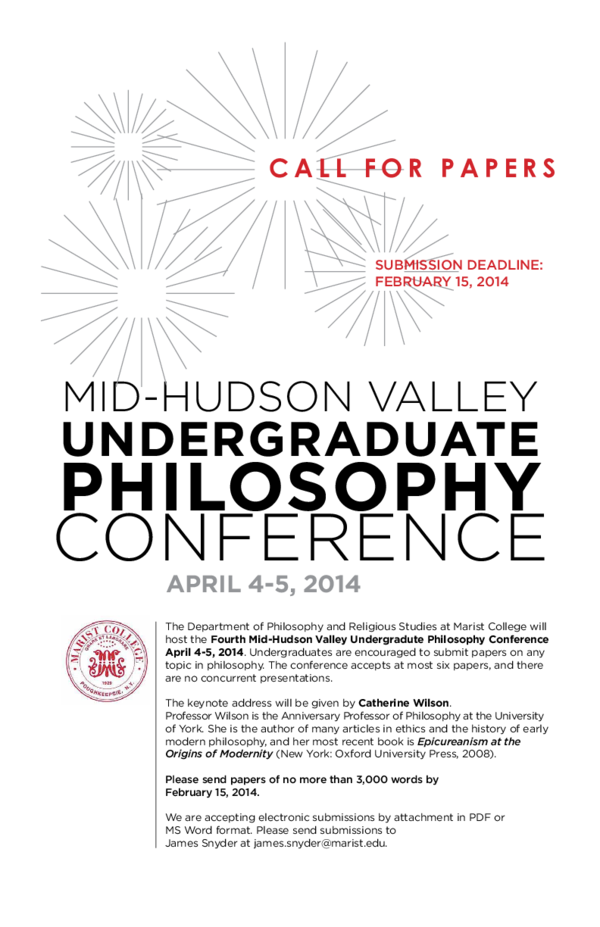 PDF) Mid-Hudson Valley Undergraduate Philosophy Conference