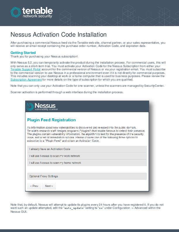 PDF) Nessus Activation Code Installation | Chamara Nimantha