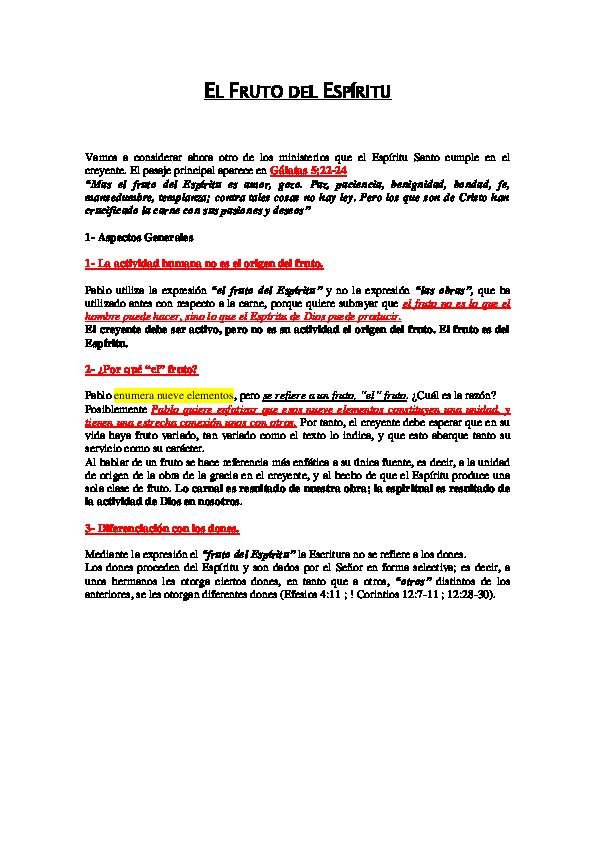Galatas 5 22 24 Cita Bíblica