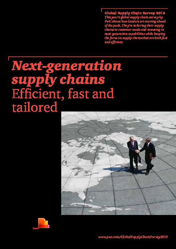 PDF) Pwc-next-generation-supply-chains-pdf   İrem