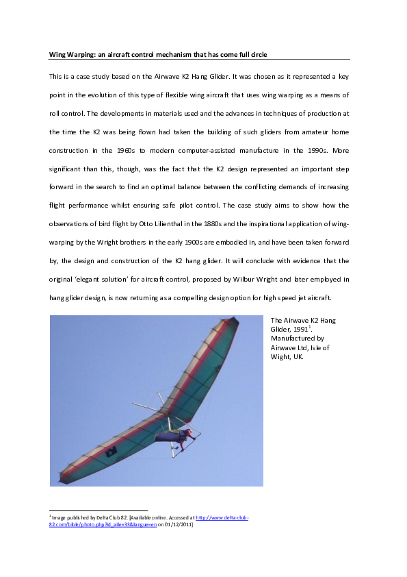 DOC) Wing Warping - a design case study   Tony Toole