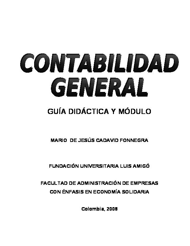 Pdf Contabilidad General Luis Hernán Guzmán Academia Edu