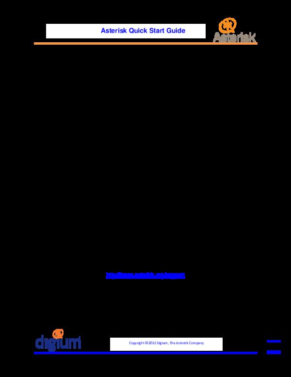 PDF) Asterisk quick start guide | tdkb bibang - Academia edu