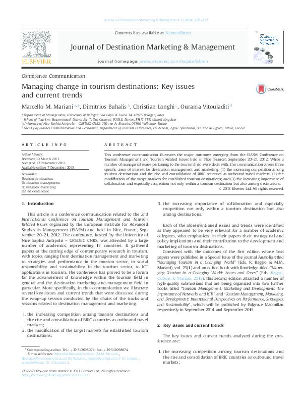 PDF) Mariani, M , Buhalis, D , Longhi, C , Vitouladiti, O