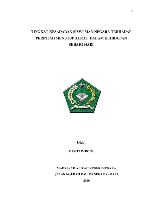 Pdf Karya Ilmiah Remaja Lengkap Masiti Imrona Academia Edu