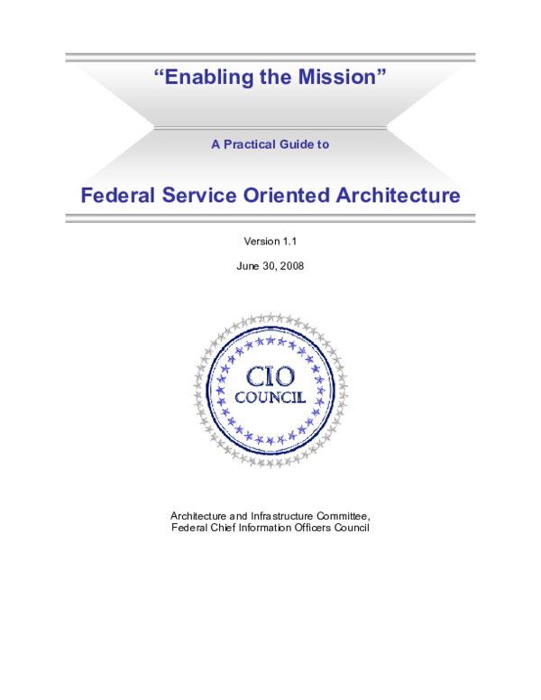 PDF) Practical Guide to Federal Service Oriented