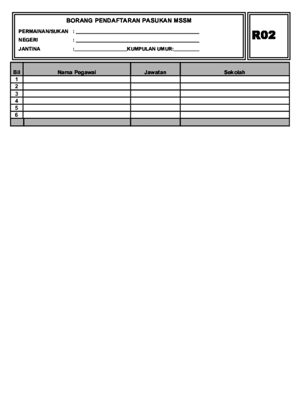 Doc Borang Pendaftaran R02 Mohamad Nasir Mat Alin Academia Edu