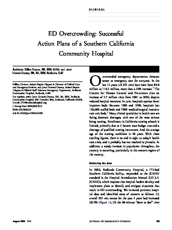 PDF) Journal of Emergency Nursing Article - Author Dargan