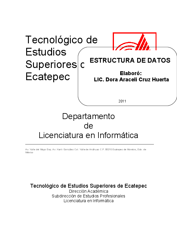 Pdf Estructura De Datos Apmi Mantenimiento Academia Edu