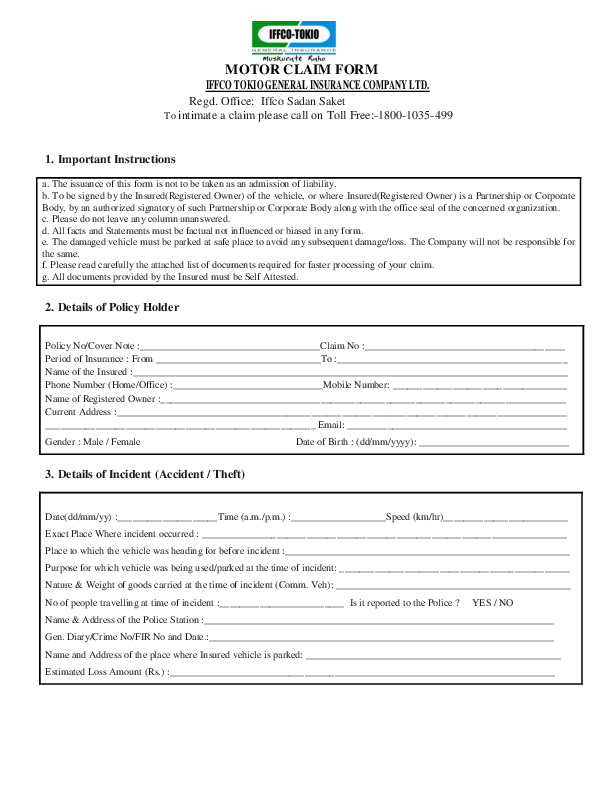 PDF) Www iffcotokio co in sites default files pdf Motor
