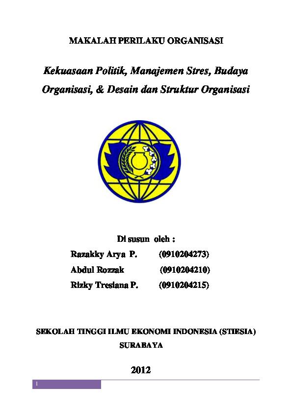 Pdf 98932165 Makalah Perilaku Organisasi Khoirul Habib Academia Edu