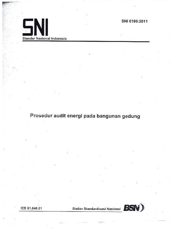 Pdf Sni 2011 Audit Energi Pada Bangunan Gedung Yusuf Ahda Academia Edu