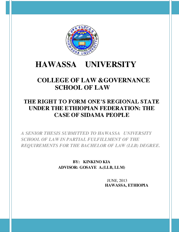 PDF) The Right to Self-determination Under the Ethiopian