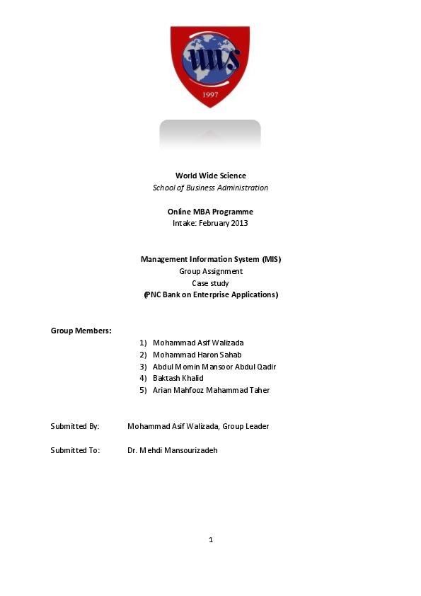 DOC) Group No 4, MIS Case Study Assignment | Sahab Haroon - Academia edu