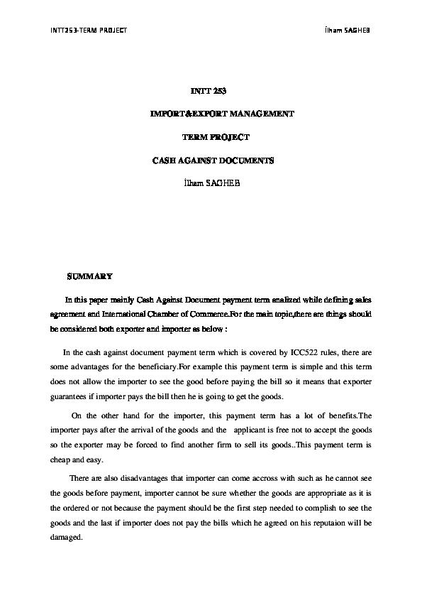 DOC) Cash Against Documents   ilham sagueb - Academia edu