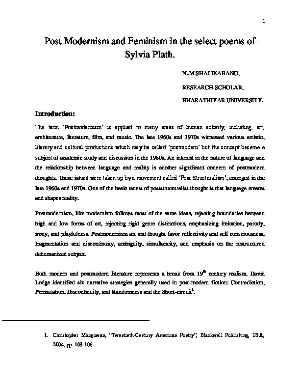 the sow sylvia plath
