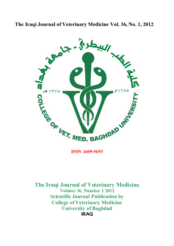 PDF) The Iraqi Journal of Veterinary Medicine Vol | Dr