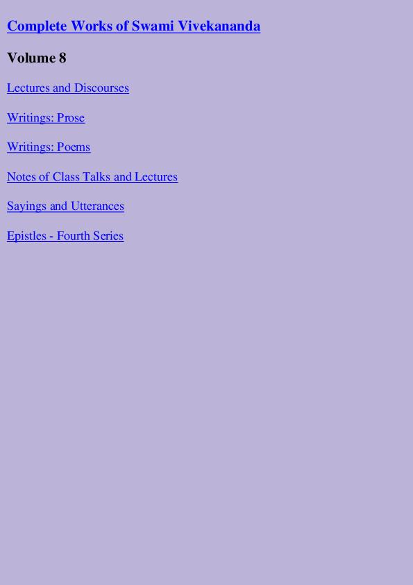 PDF) Complete Works of Swami Vivekananda - Vol 8 | Arun King