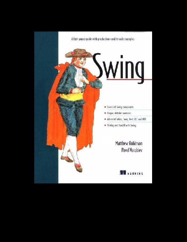 PDF) Java Swing Overview   Θόδωρος Στεφανίδης - Academia edu