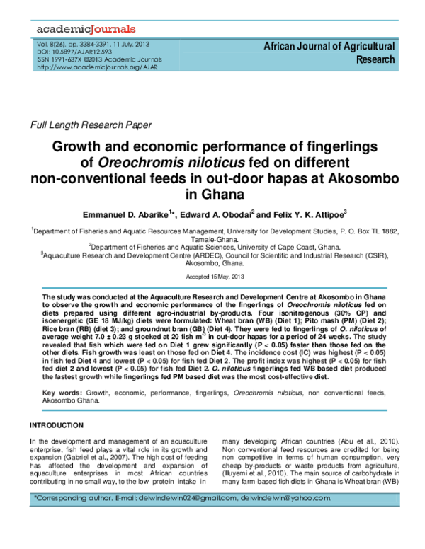 PDF) Abarike et al  2013 | Emmanuel Abarike - Academia edu