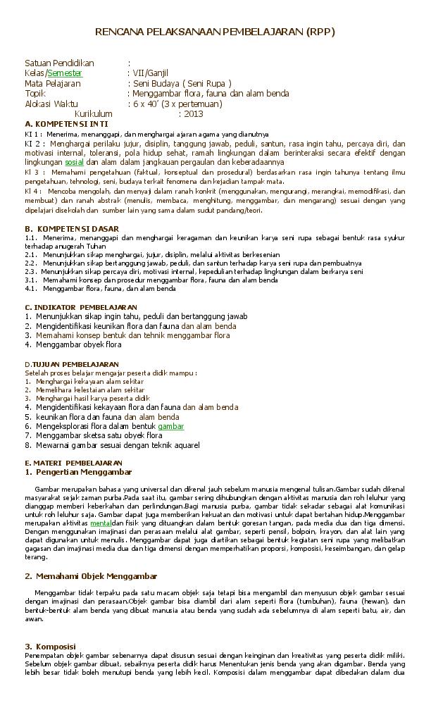 Doc Contoh Rencana Pelaksanaan Pembelajaran Nudin Syawal Academia Edu