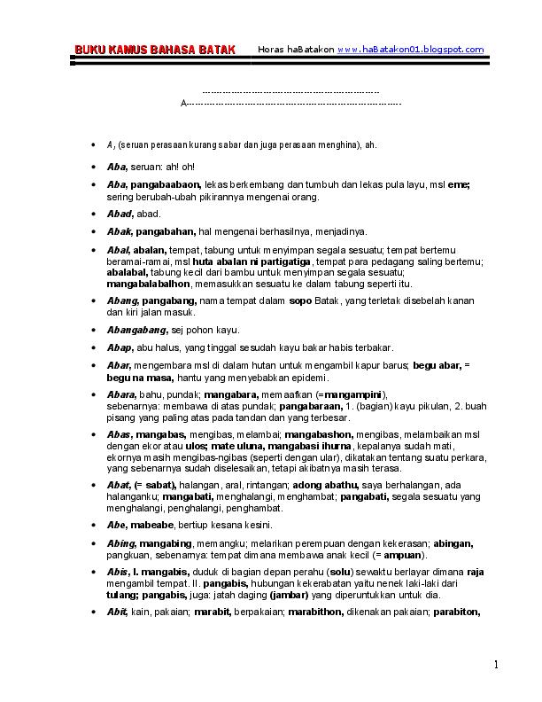 Kamus bahasa batak toba pdf995