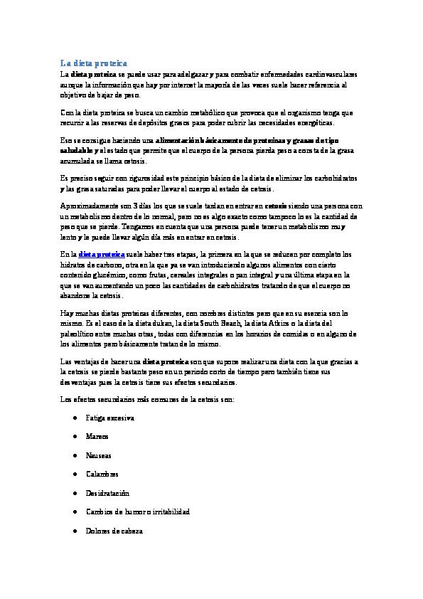 Frutas para dieta proteica pdf