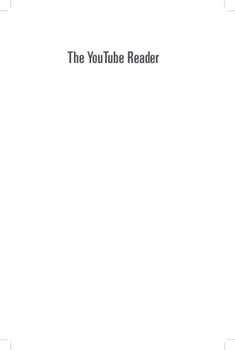 PDF) The YouTube Reader   Patrick Vonderau - Academia edu