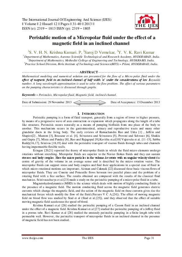 PDF) The International Journal of Engineering and Science (The IJES