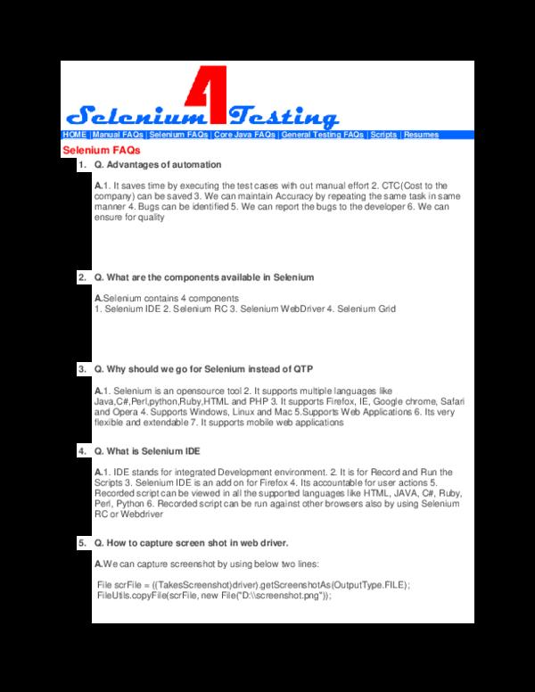DOC) Selenium Testing   Ankit Kumbalkar - Academia edu