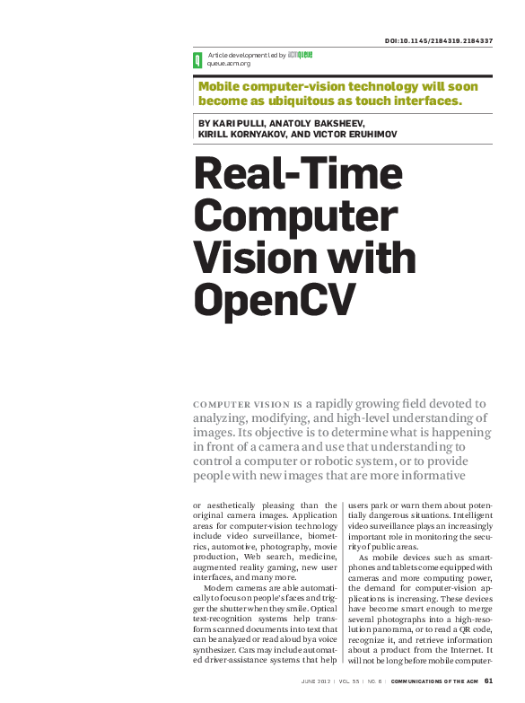PDF) Realtime Computer Vision with OpenCV | Anatoly Baksheev