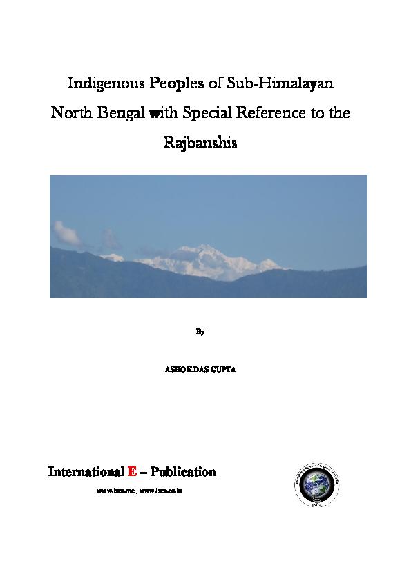 PDF) Indigenous Peoples of Sub Himalayan North Bengal