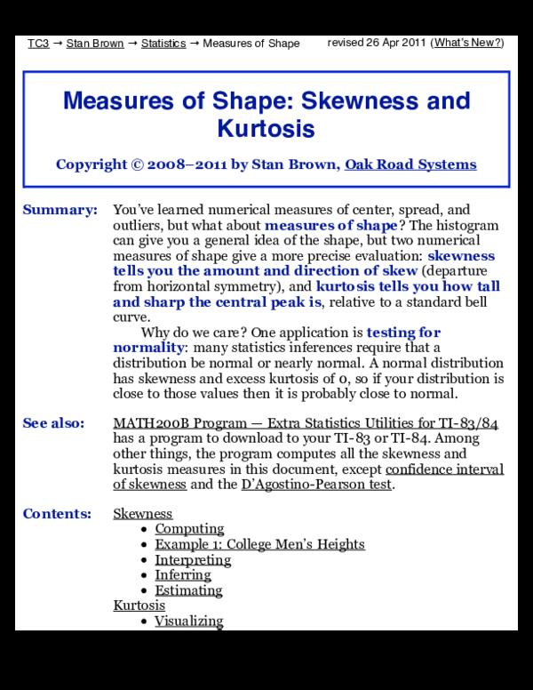 PDF) Skew Stat Signif | Kabala Thomas - Academia edu