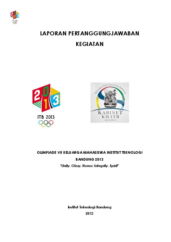 Pdf Laporan Pertanggungjawaban Kegiatan Sapar Uddin Academia Edu