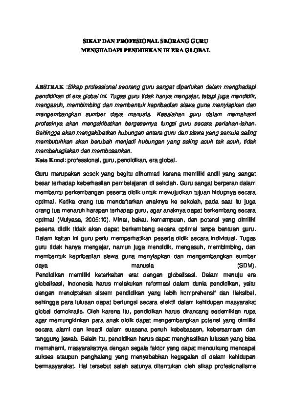Doc Contoh Artikel Non Penelitian Lindhaee Jhubeq Academia Edu