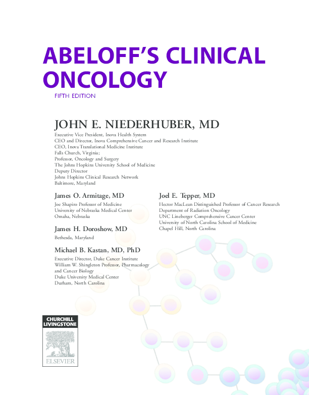 PDF) ABELOFF'S CLINICAL ONCOLOGY FIFTH EDITION | Nurmayanti