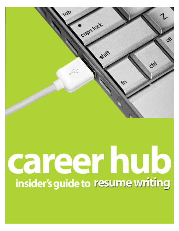 Pdf Insider S Guide To Resume Writing Introduction Dean Joseph