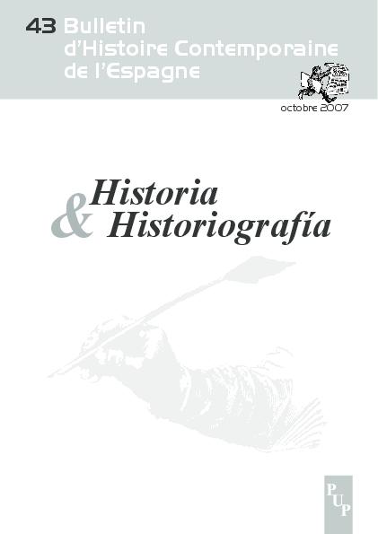 n°43. HISTORIA E HISTORIOGRAFÍA. Gonzalo Pasamar (coord.)  838878e3519
