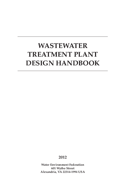 Pdf plant wastewater treatment design handbook