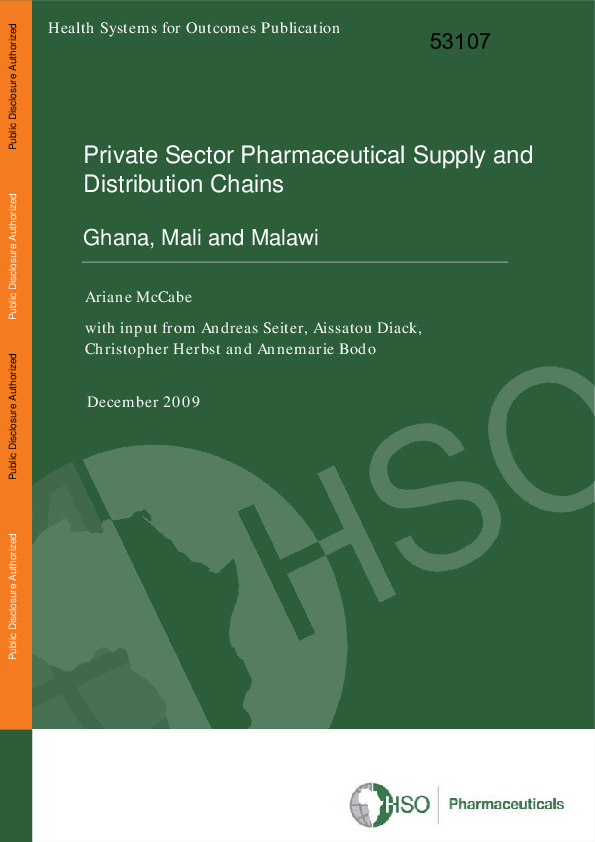 PDF) Health Systems for Outcomes Publication Private Sector