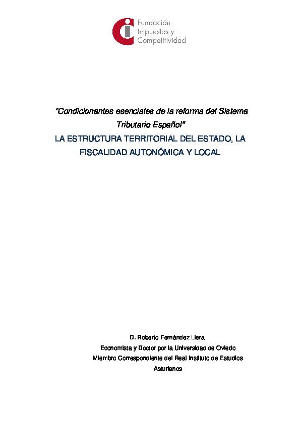 Pdf La Estructura Territorial Del Estado La Fiscalidad