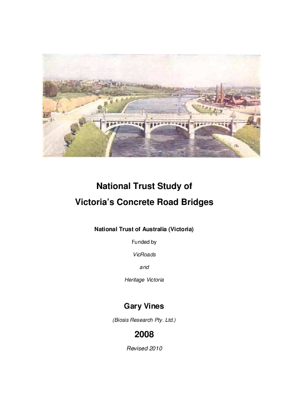 PDF) National Trust Study of Victoria's Concrete Bridges Vol