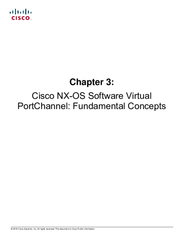 NX-OS Software Virtual Port Channel Guide | Manoj Shukla