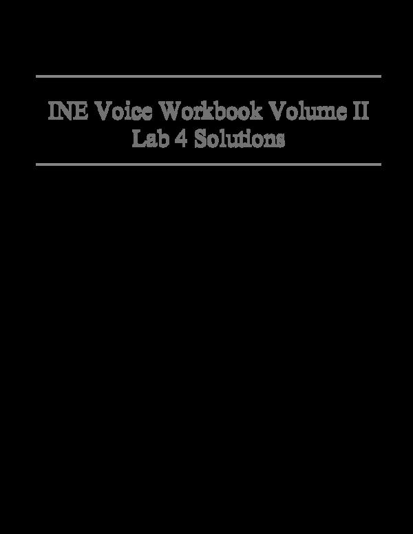 PDF) INE Voice Lab4 Solutions   han han - Academia edu