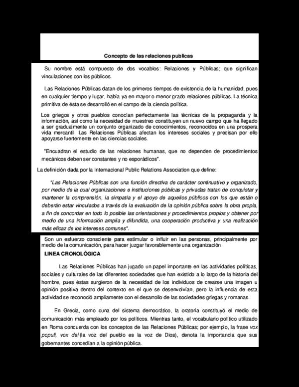 Doc Concepto De Las Relaciones Publicas Carlos Barrios Academia Edu