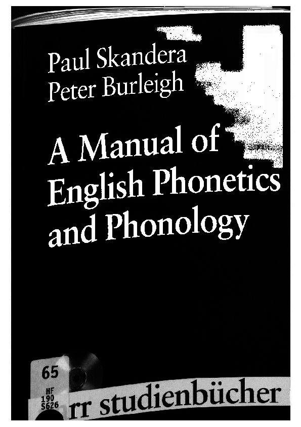 PDF) A Manual of English Phonetics and Phonology | Marie