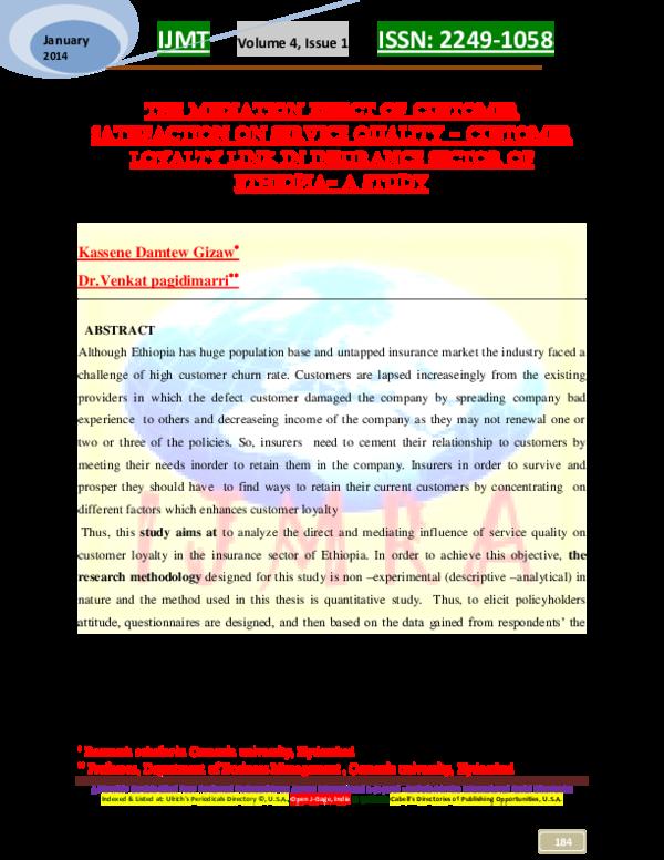PDF) IJMT Volume 4, Issue 1 ISSN: 2249-1058 mediation effect of