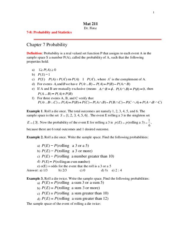 PDF) Probability | elva garcia - Academia edu