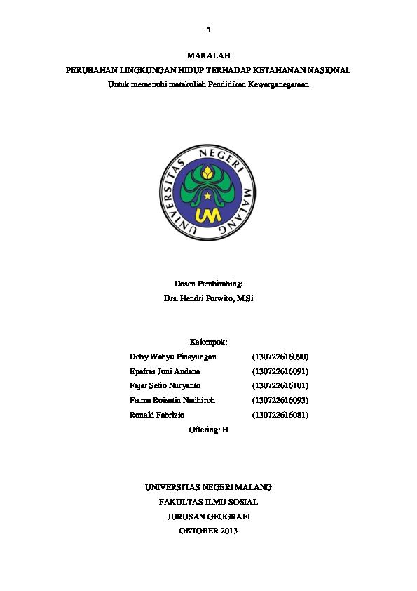 Doc Makalah Lingkungan Hidup Aicassiopeiaia Faychan Academia Edu